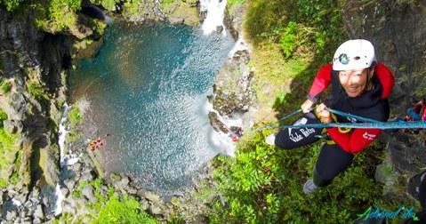 Canyon rappel la Réunion